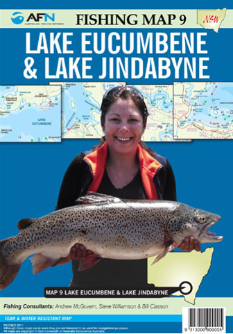 Lake Eucumbene Lake Jindabyne  Fishing Map 9 AFN